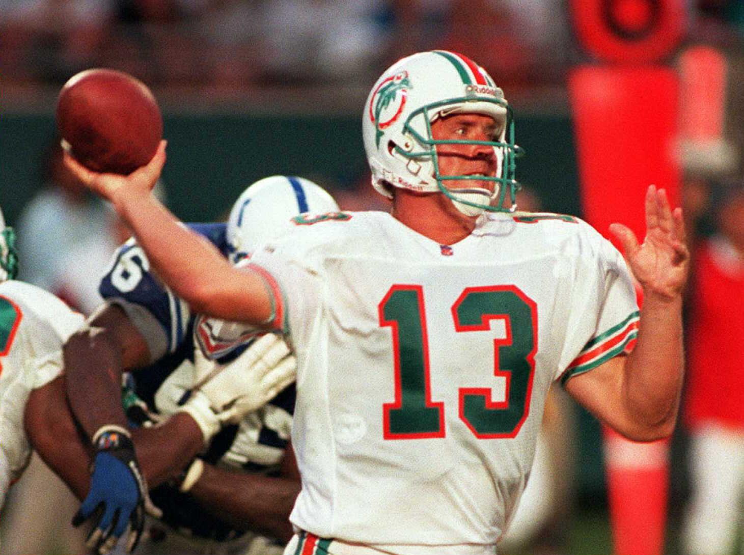 Miami Dolphin's quarterback Dan Marino broke Fran