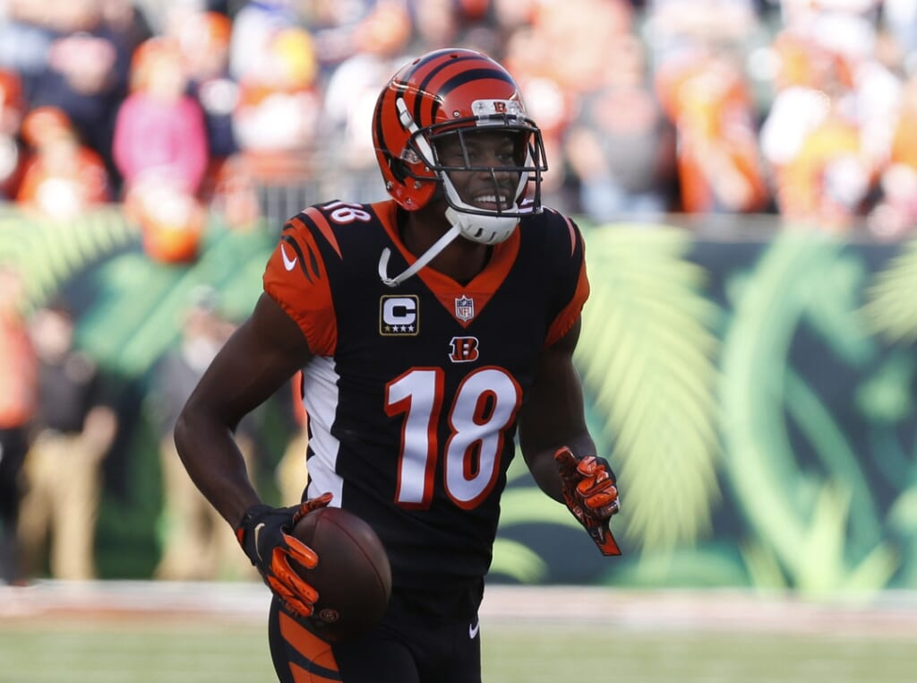 Bengals A.J. Green during game against Patriots