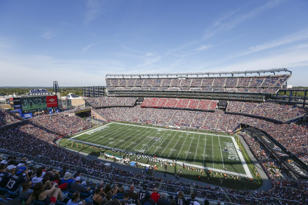 GIllette Stadium during New England Patriots game