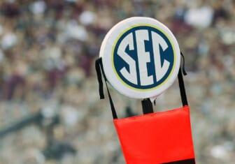 SEC logo during college football season