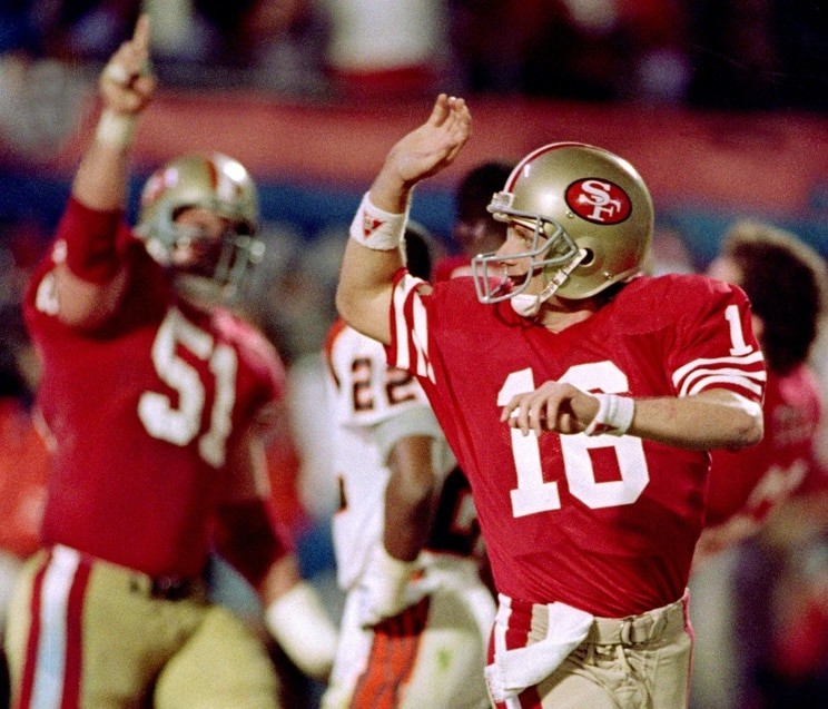 Joe Montana during Super Bowl XXIII