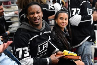 Falcons RB Todd Gurley during Kings NHL game