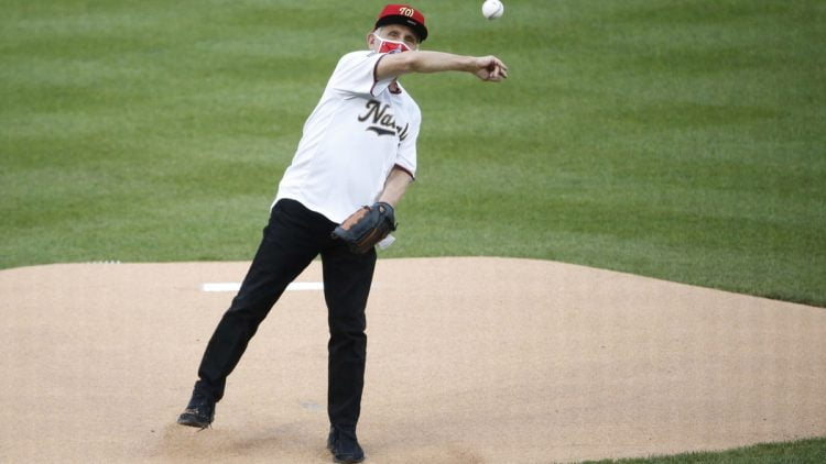 Anthony Fauci first pitch during Nationals-Yankees MLB opener.