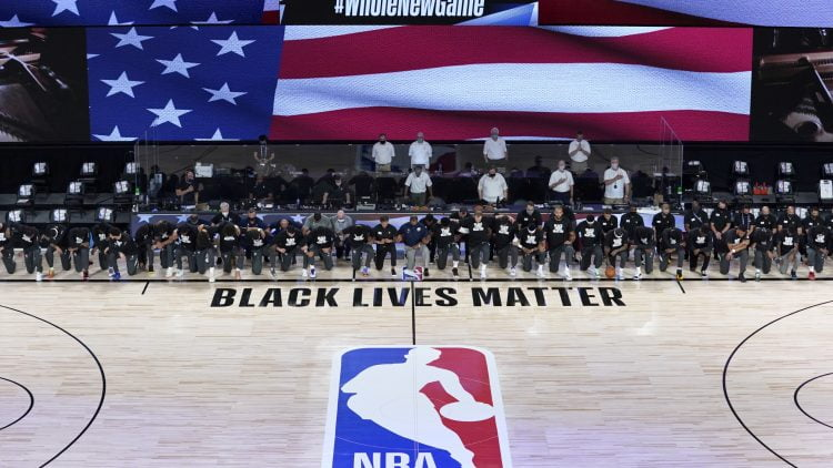Jazz and Pelicans kneel during national anthem before NBA game