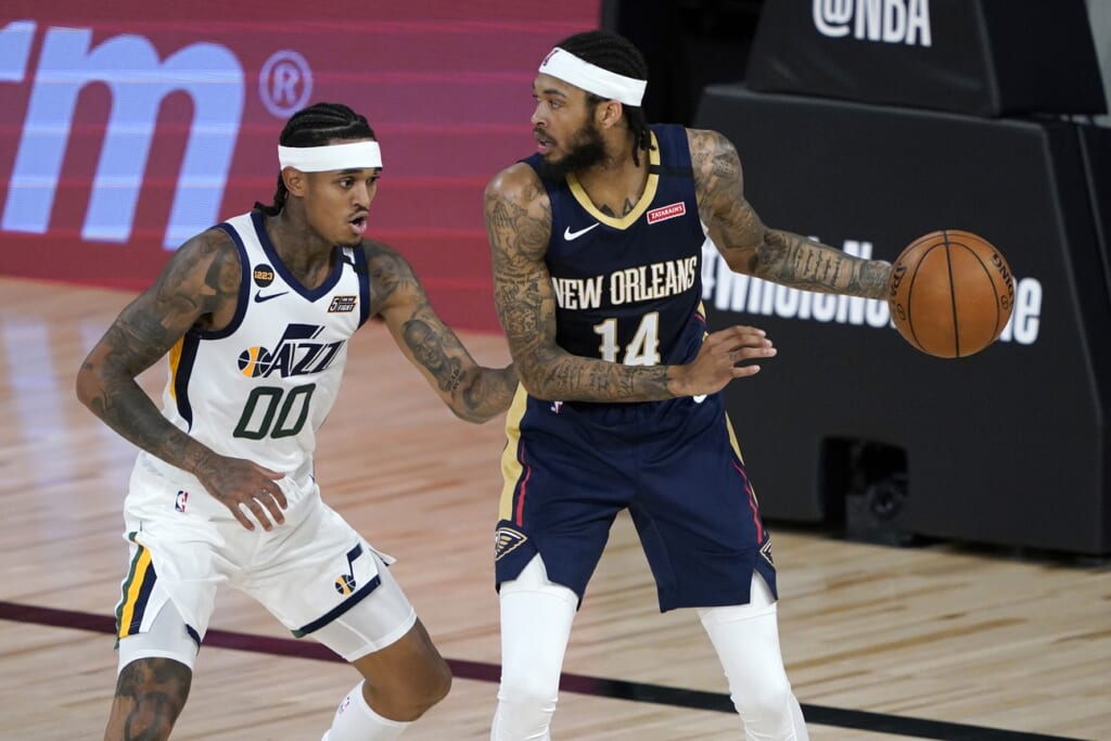 Pelicans Brandon Ingram against Jazz during NBA restart.