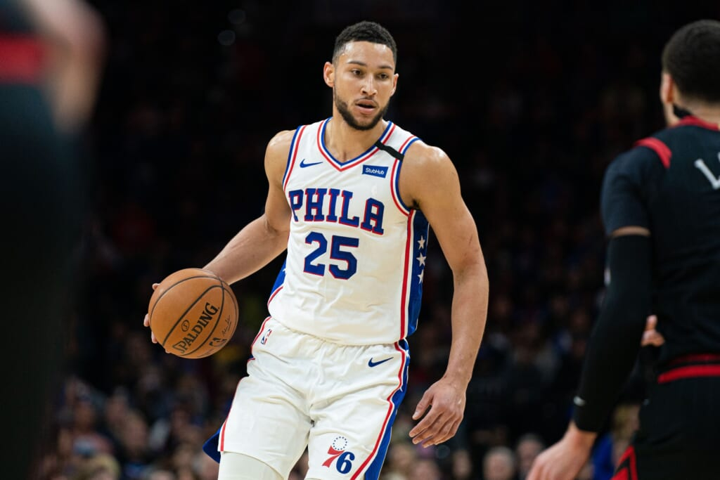 James Harden trade for Ben Simmons?
