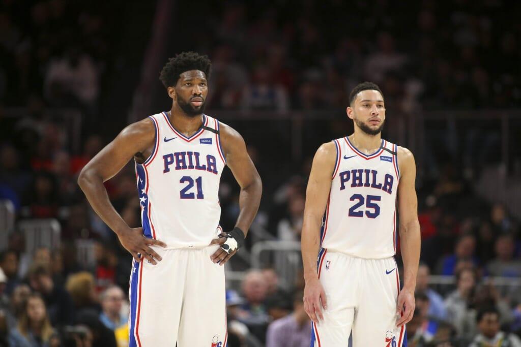 Philadelphia 76ers stars Ben Simmons and Joel Embiid