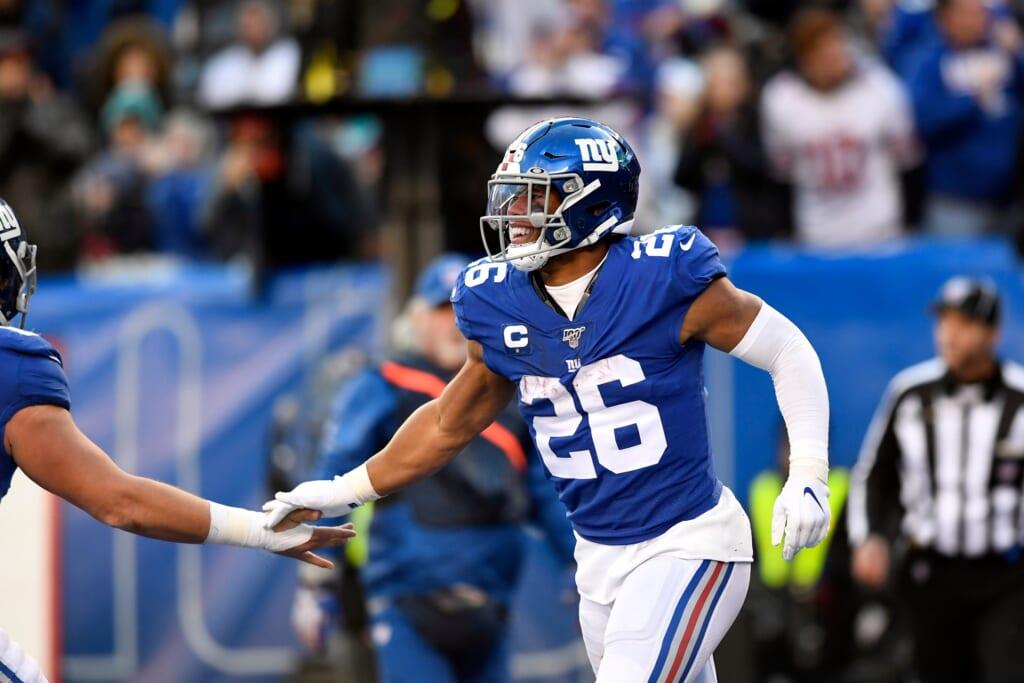 New York Giants star running back Saquon Barkley