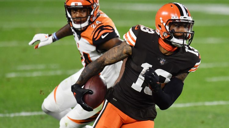 Cleveland Browns wide receiver Odell Beckham Jr. against the Bengals in Week 2 of the NFL season