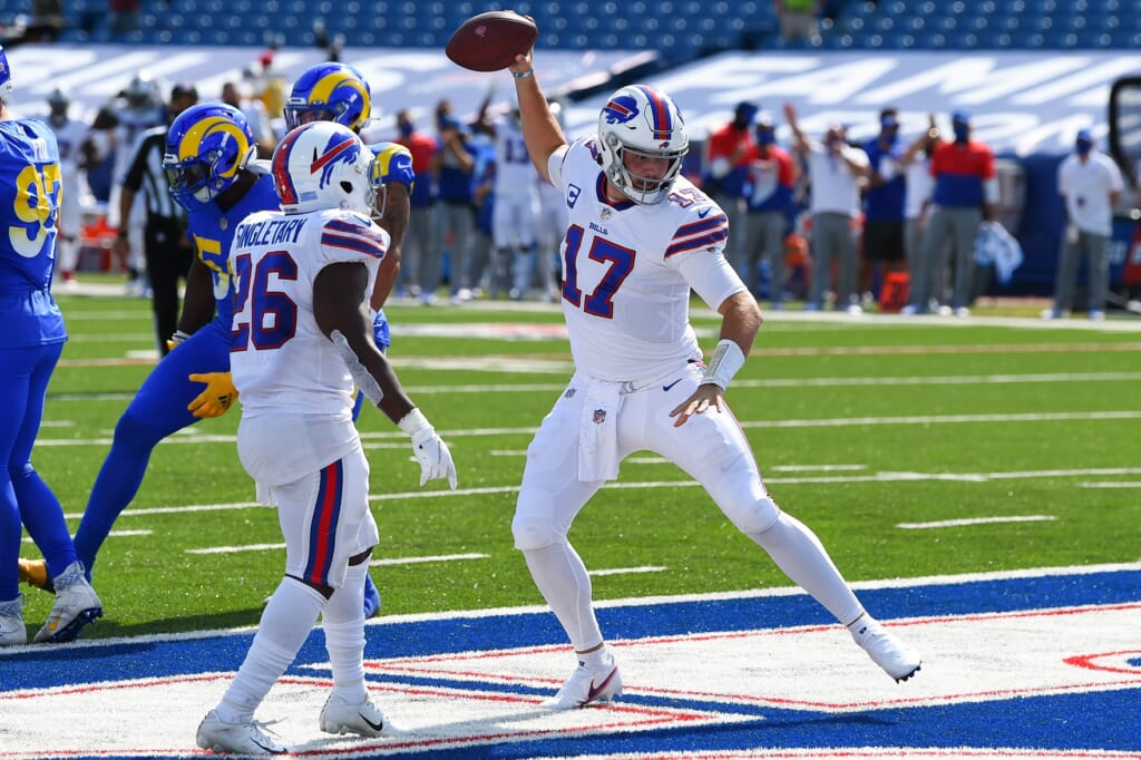 Bills' Josh Allen scored TD against the Rams
