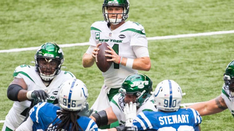 Jets' Sam Darnold against the Colts