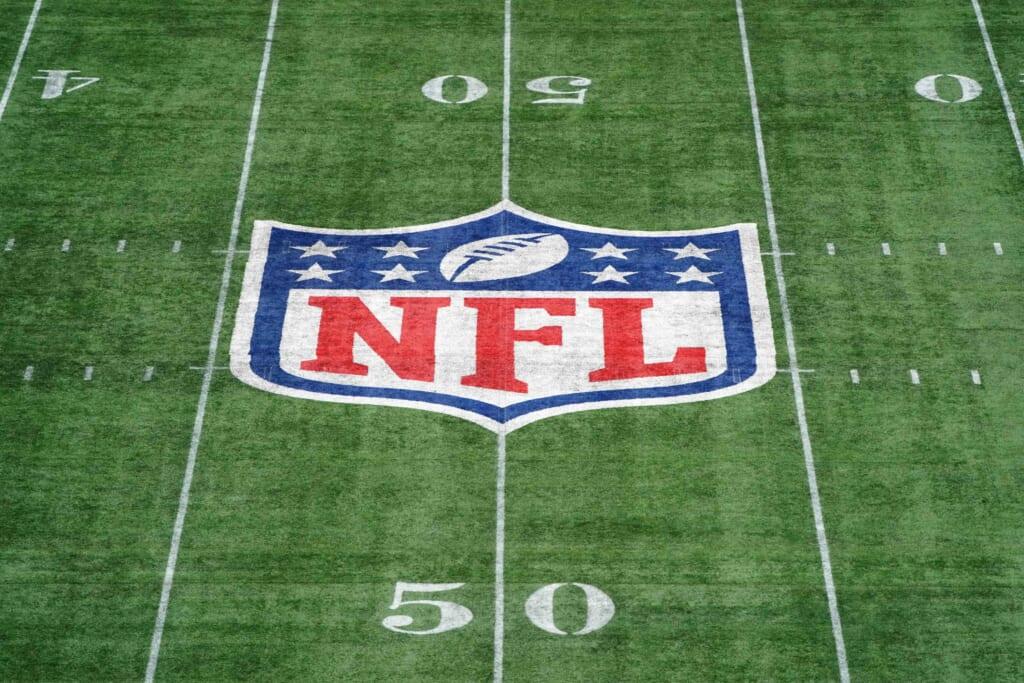 NFL logo at midfield