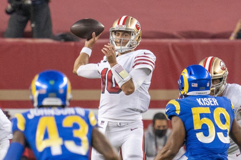 San Francisco 49ers QB Jimym Garoppolo on Sunday Night Football in NFL Week 6
