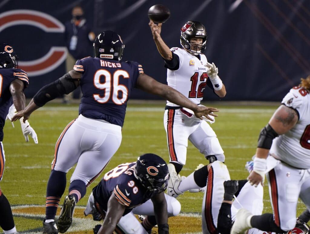 Tampa Bay Buccaneers QB Tom Brady vs. Chicago Bears in NFL Week 5