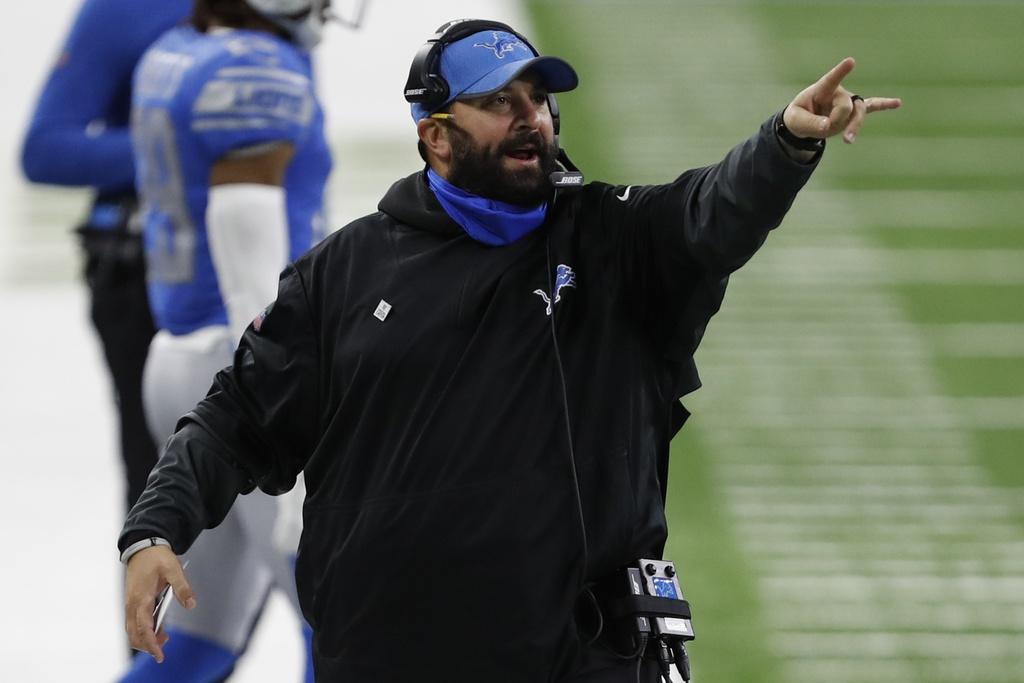 Lions head coach Matt Patricia during NFL game against the Saints