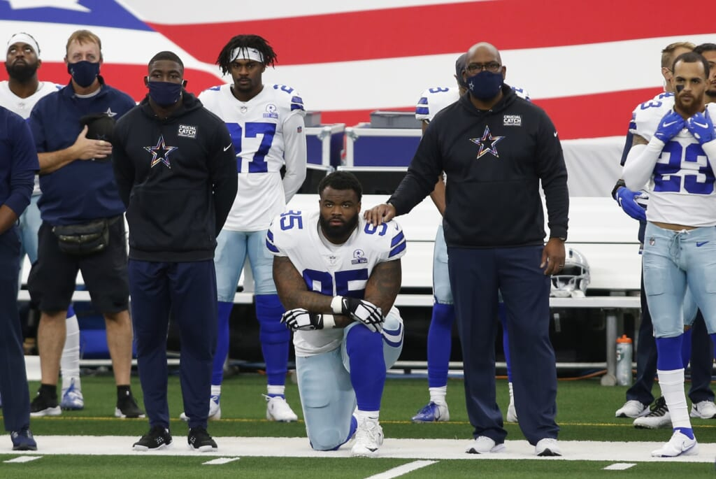 NFL TV Ratings. Cowboys-Browns, national anthem protests