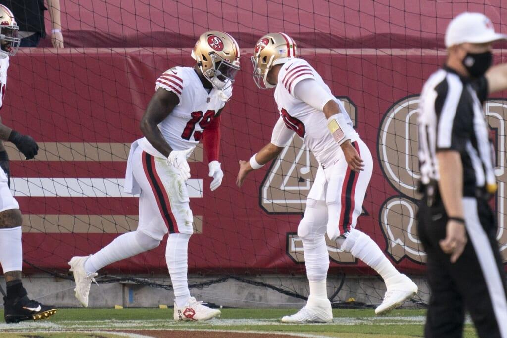 49ers' Jimmy Garoppolo and Deebeo Samuel against Rams, NFL Week 6