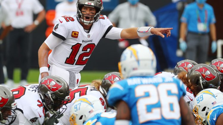 Tampa Bay Buccaneers QB Tom Brady vs. the Los Angeles Chargers