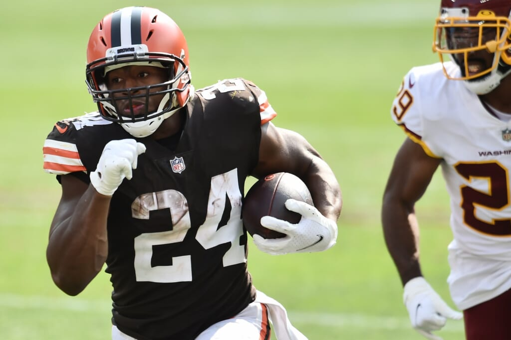 Nick Chubb could be a fantasy football sleeper for Week 10