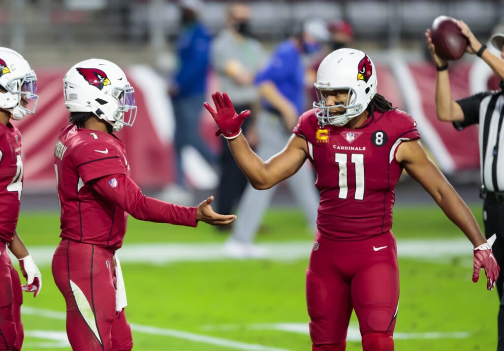 Larry Fitzgerald Celebrates with Kyler Murray