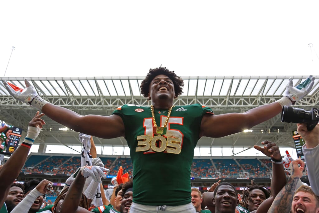 Hurricanes star Gregory Rousseau could remain at home with the Miami Dolphins in the 2021 NFL Draft