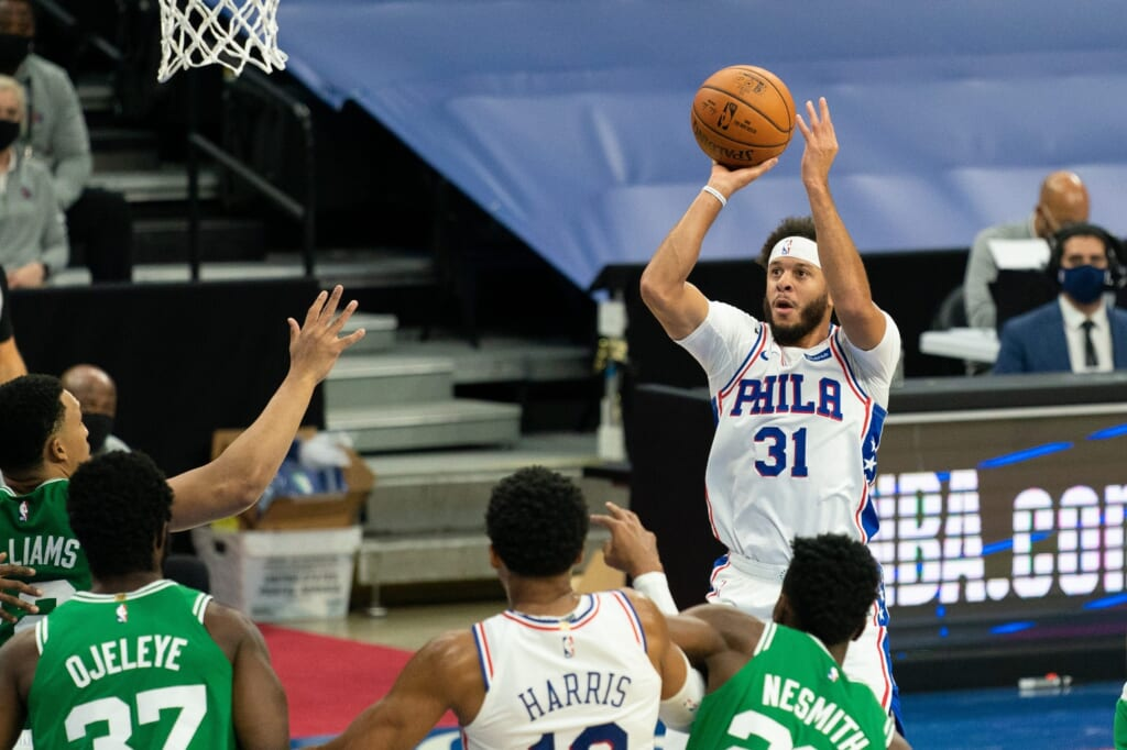 76ers Seth Curry struggled against the Wizards