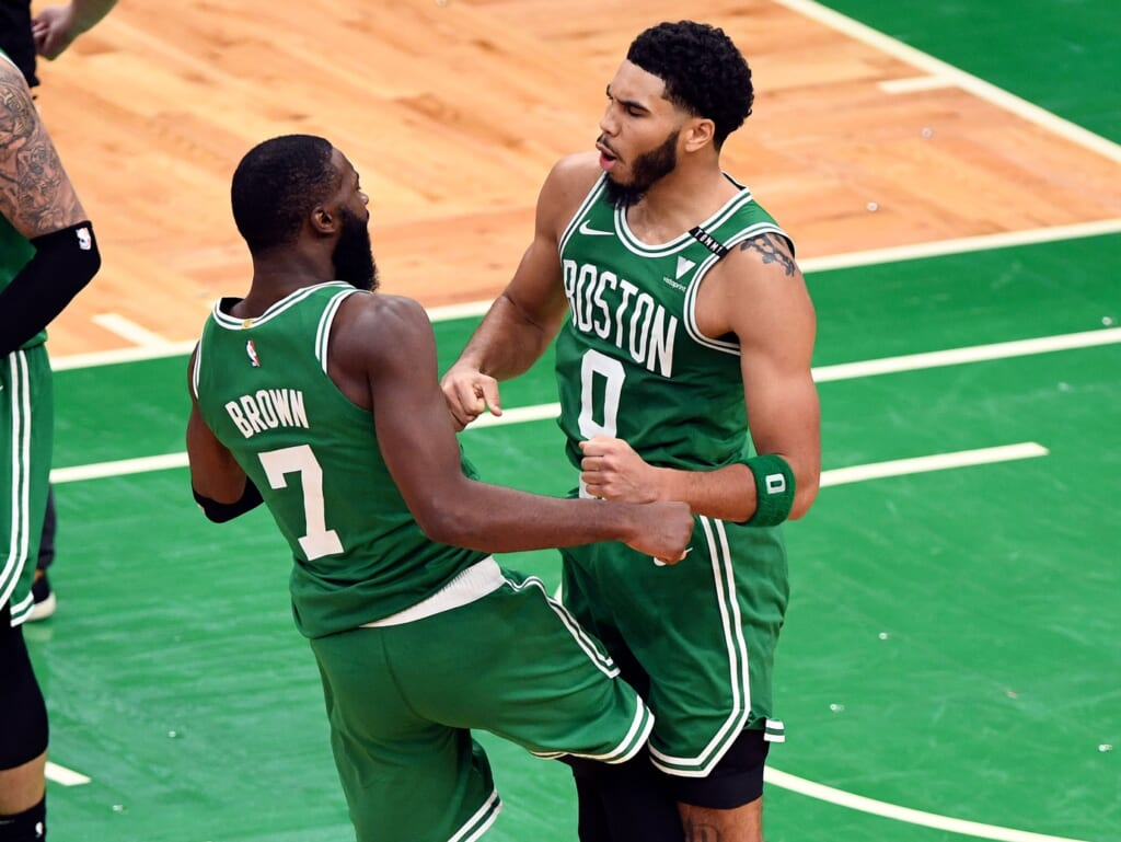 Jayson Tatum wins it for Celtics over Bucks during NBA opening night.