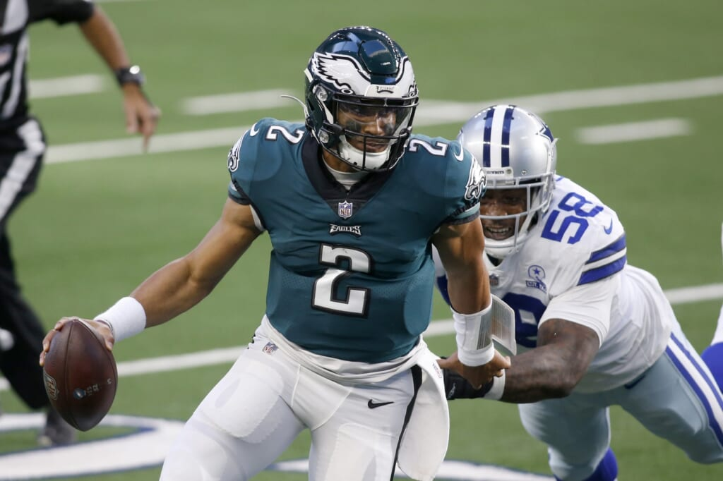 Eagles QB Jalen Hurts burns Cowboys