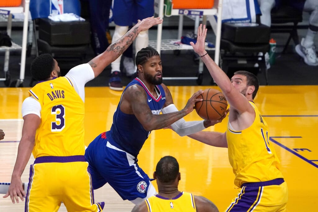 Paul George balled out for Los Angeles Clippers on NBA opening night