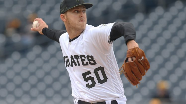 Apr 25, 2019; Pittsburgh, PA, USA;  Pittsburgh Pirates starting pitcher Jameson Taillon (50) delivers a pitch against the Arizona Diamondbacks during the first inning at PNC Park. Mandatory Credit: Charles LeClaire-USA TODAY Sports