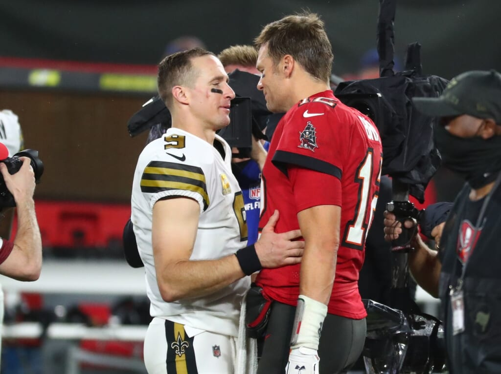 Divisional Round: Tom Brady: Drew Brees