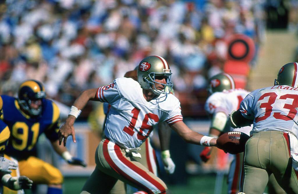 Joe Montana San Francisco 49ers v Los Angeles Rams