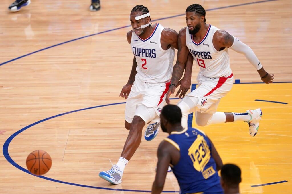 Los Angeles Clippers stars Paul George and Kawhi Leonard, COVID-19