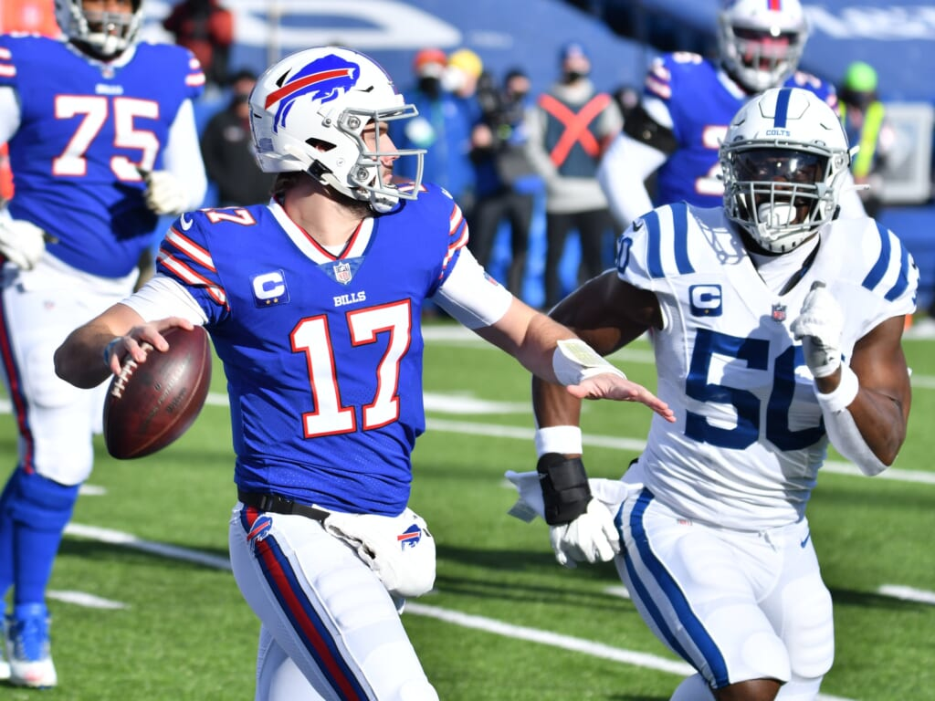 Josh Allen is one of the top remaining quarterbacks in the NFL Playoffs.