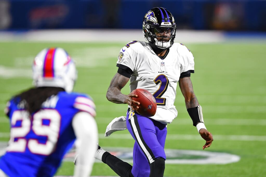 Ravens QB Tyler Huntley is a reason they waived Robert Griffin III on Monday.