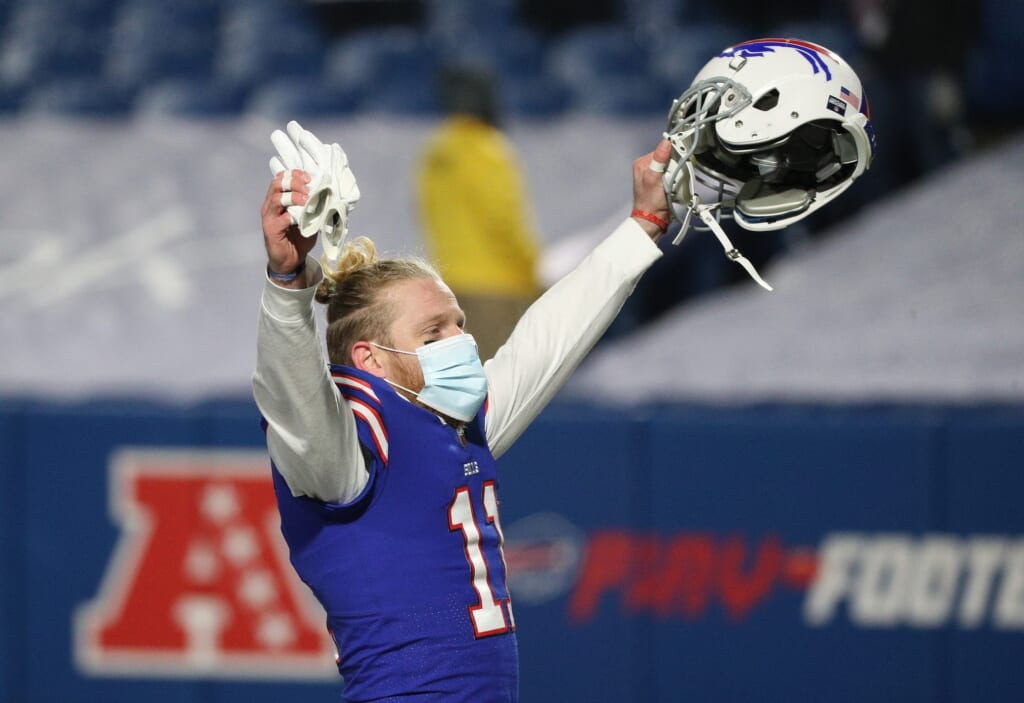 Buffalo Bills WR Cole Beasley played through a broken fibula in the NFL Playoffs.