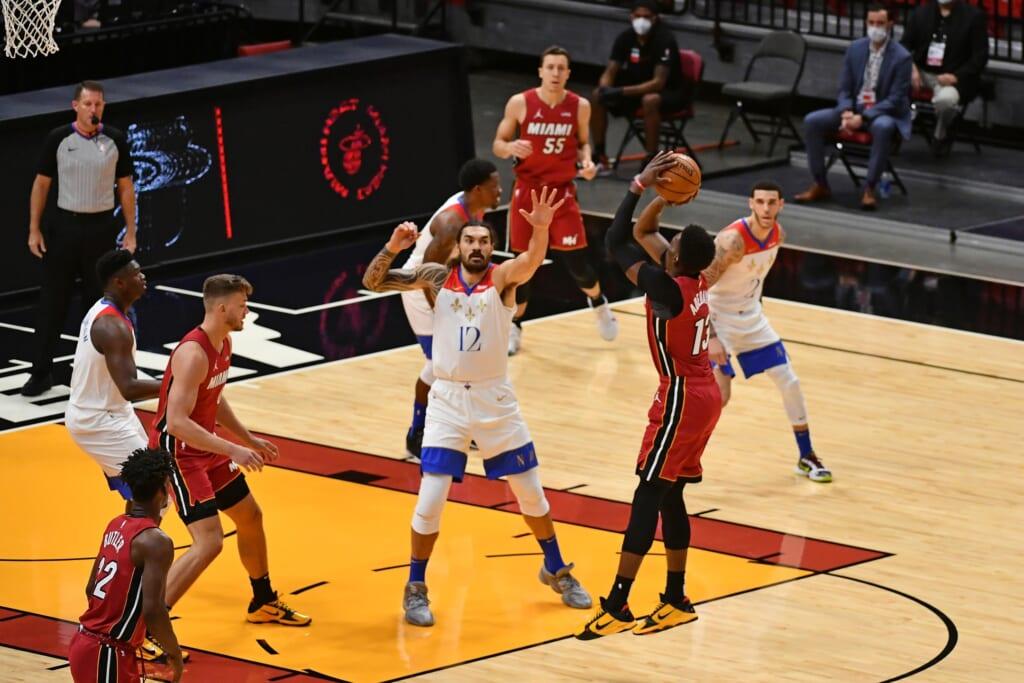 Bam Adebayo's jump shot gives the Miami Heat more options