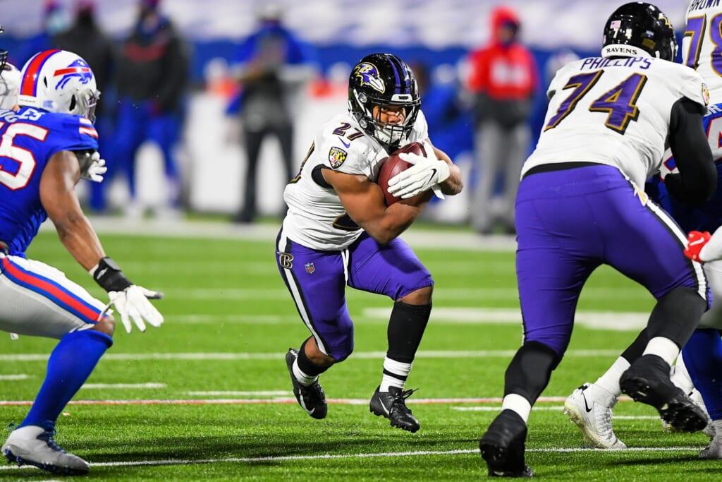 Adding Todd Gurley would help Ravens RB J.K. Dobbins