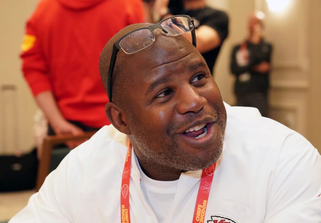 Falcons rumors: Head coach Eric Bieniemy?