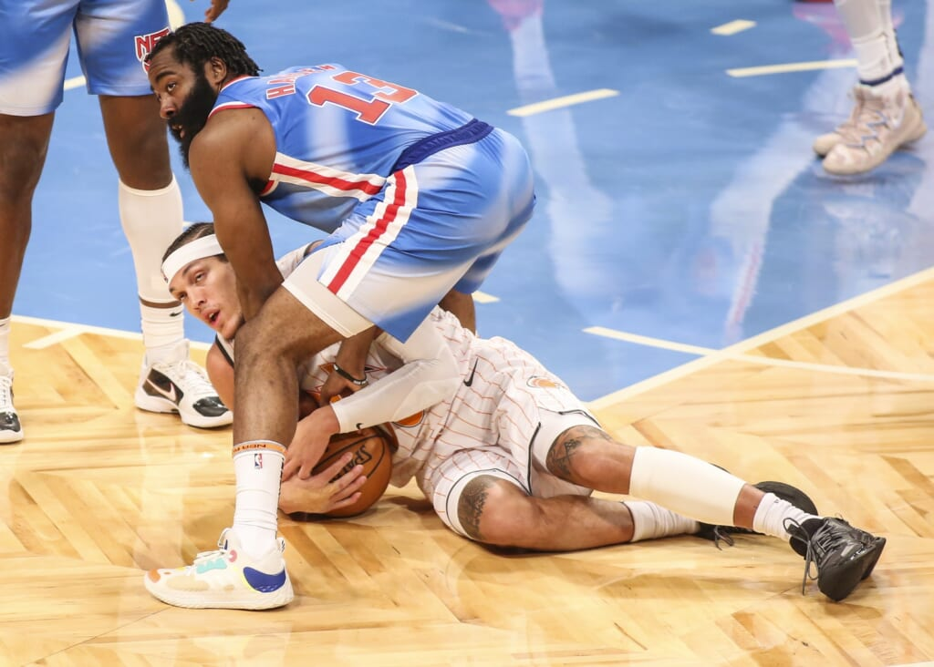 James Harden bought in on defense for Brooklyn Nets