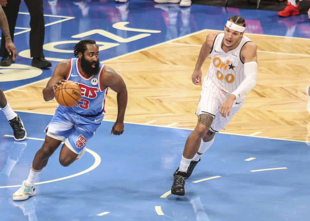 James Harden stats: The Beard posts triple-double in Brooklyn Nets debut