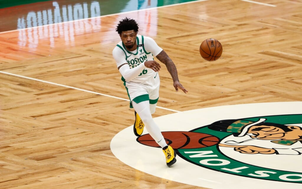 Kristaps Porzingis trade to the Celtics for Marcus Smart