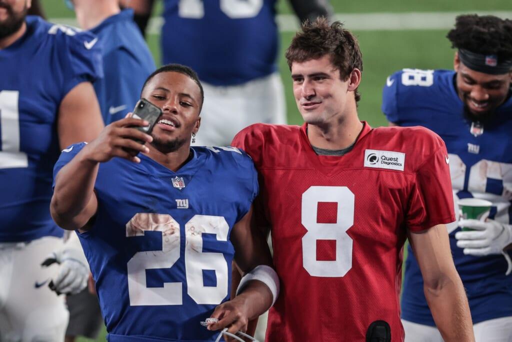Saquon Barkley, Daniel Jones, New York Giants