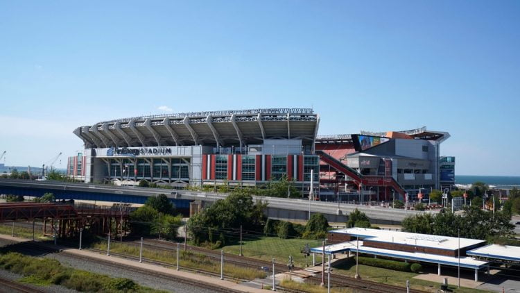 Sep 22, 2019; Cleveland, OH, USA; General overall view of  FirstEnergy Stadium before an NFL game between the Los Angeles Rams and the Cleveland Browns. Mandatory Credit: Kirby Lee-USA TODAY Sports
