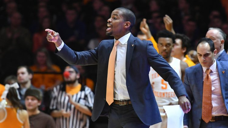 Nov 25, 2019; Knoxville, TN, USA; Tennessee Volunteers assistant coach Kim English during the first half against the Chattanooga Mocs at Thompson-Boling Arena. Mandatory Credit: Randy Sartin-USA TODAY Sports