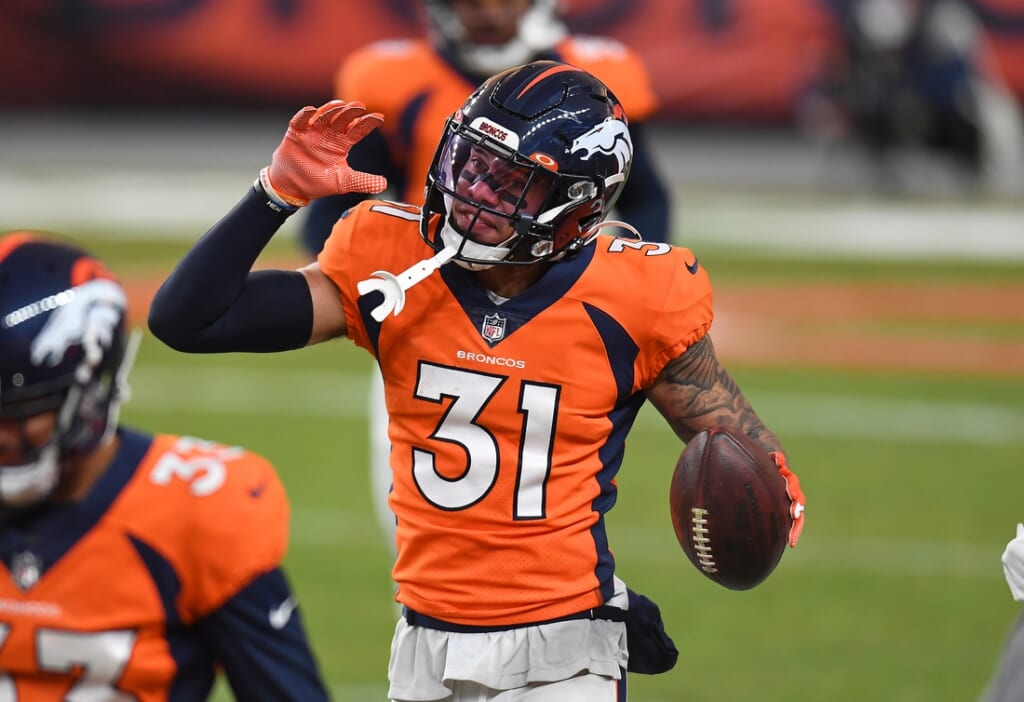 Justin Simmons from the Denver Broncos to the Green Bay Packers for Aaron Rodgers?