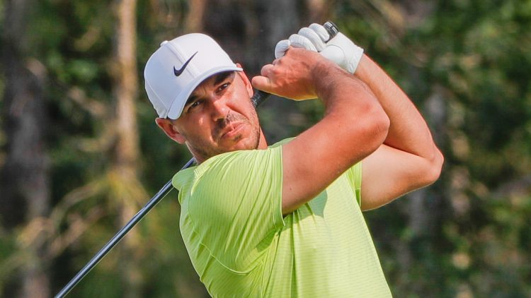 Feb 27, 2021; Bradenton, Florida,  USA; Brooks Koepka plays his shot from the third tee during the third round of World Golf Championships at The Concession golf tournament at The Concession Golf Club. Mandatory Credit: Mike Watters-USA TODAY Sports