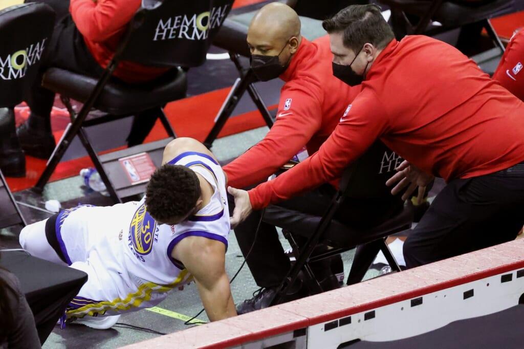 Golden State Warriors Stephen Curry injury.