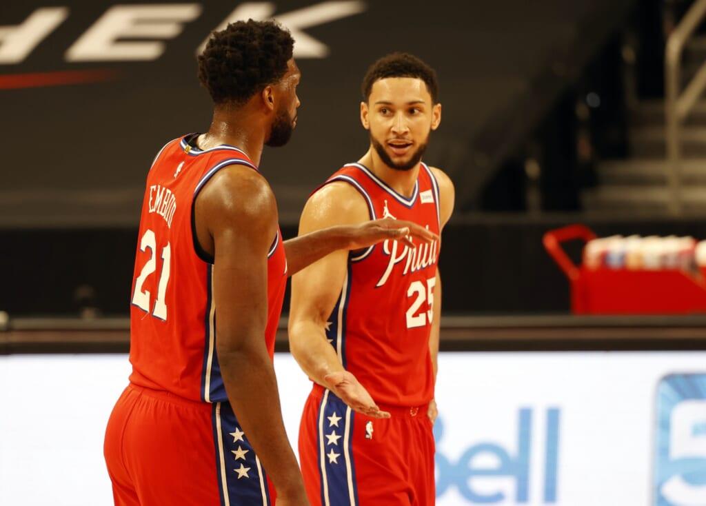 Philadelphia 76ers stars Joel Embiid, Ben Simmons