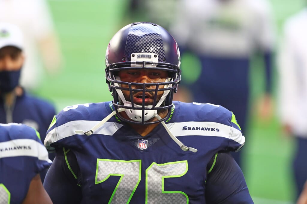 Duane Brown to Chargers after Russell Wilson trade